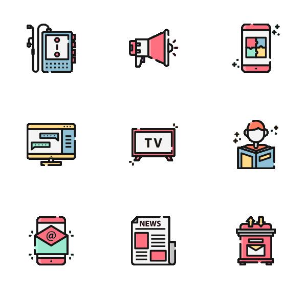 通信和媒体图标