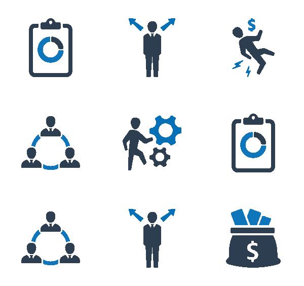 商业和金融图标
