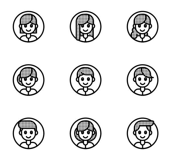 人物形象图标