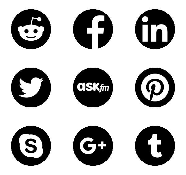 社交媒体标识图标