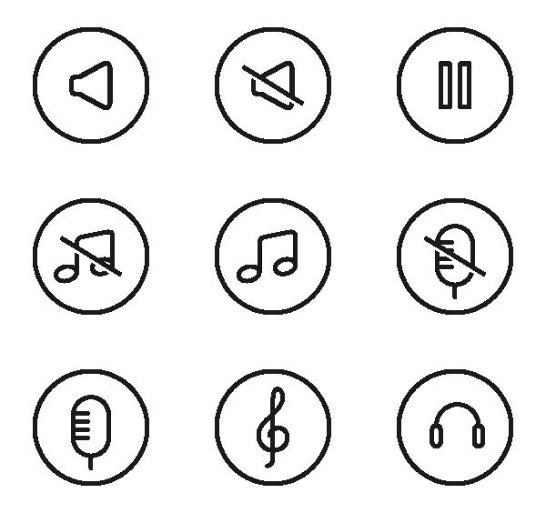 音乐UI图标