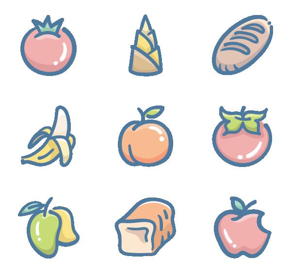 水果糕点图标