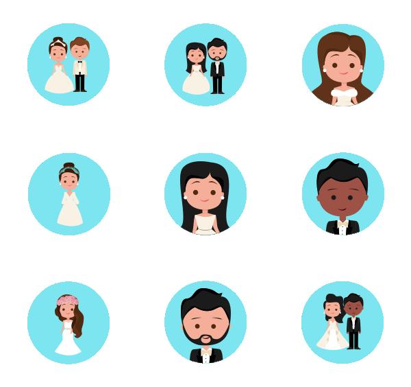 婚礼人物图标