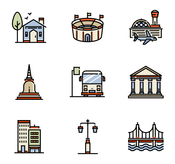 城市景观图标