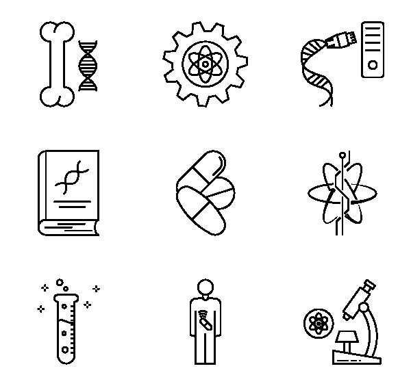 生物科学图标
