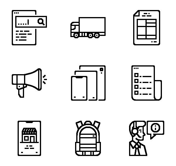 电子商务图标