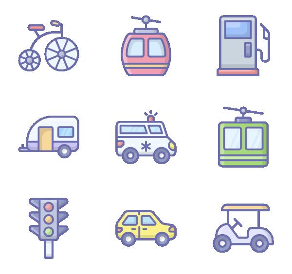 交通运输图标
