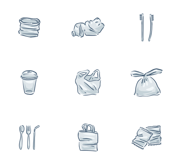 塑料废料图标