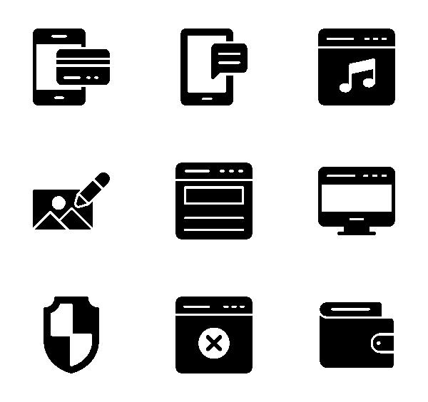 网络和移动应用程序图标