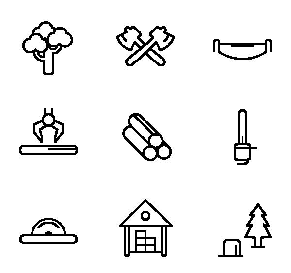伐木工具图标