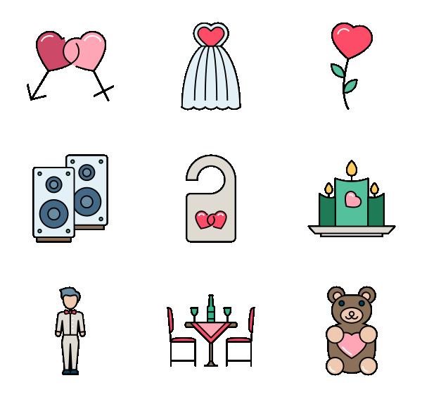 爱情和浪漫图标