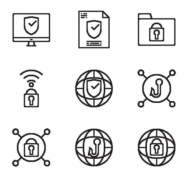 互联网安全图标
