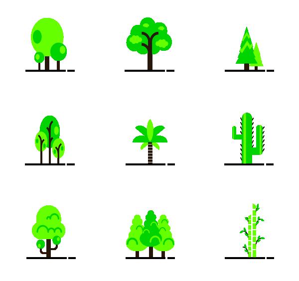 自然树木图标
