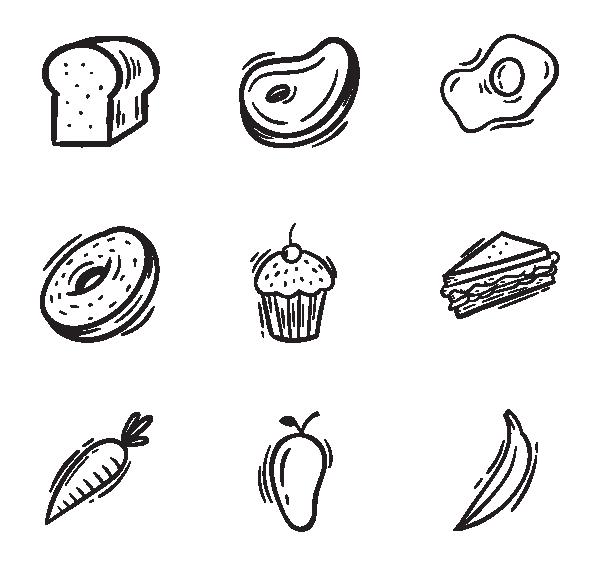 食物和水果图标