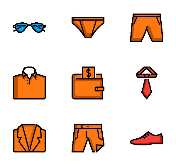 男性服装图标