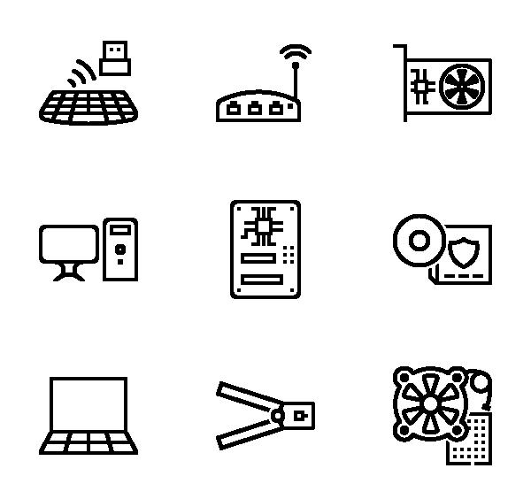 计算机组件图标