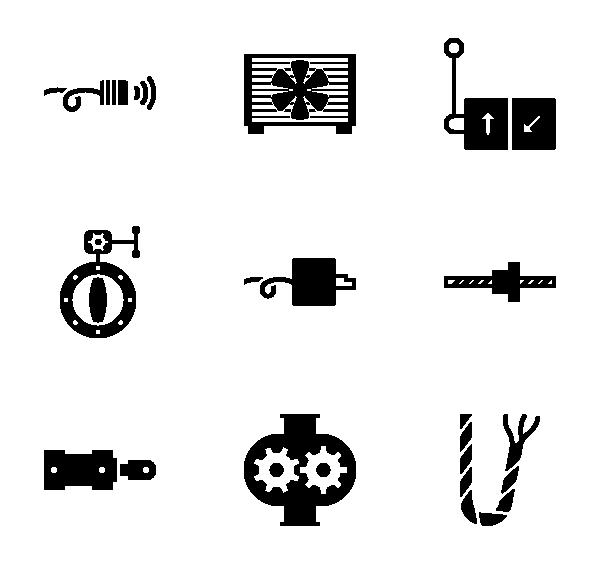 工业设备图标
