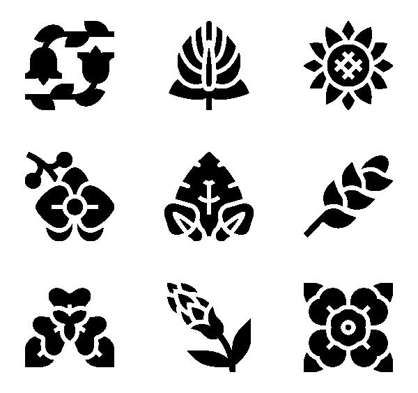 热带花卉图标