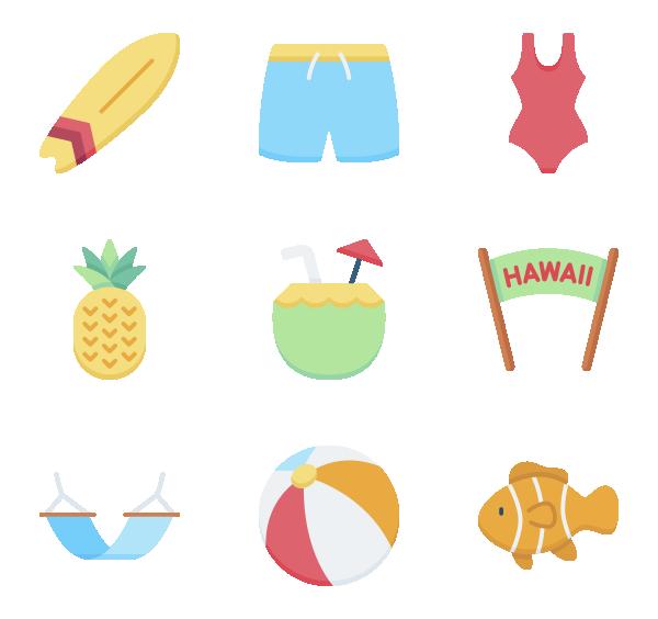 夏季旅行图标