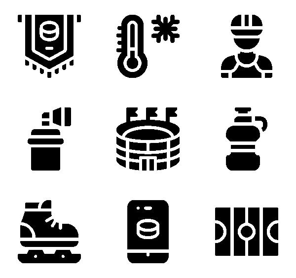 曲棍球图标