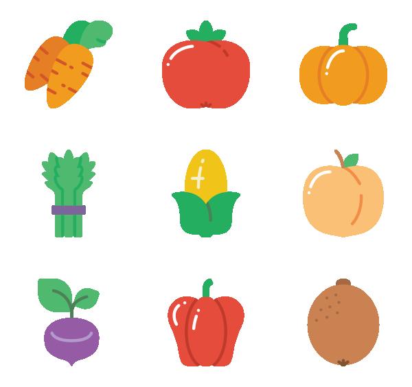 水果和蔬菜图标