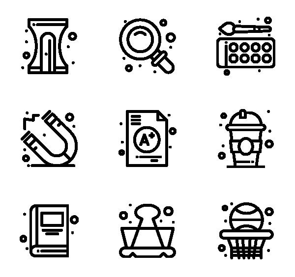 学校教育图标