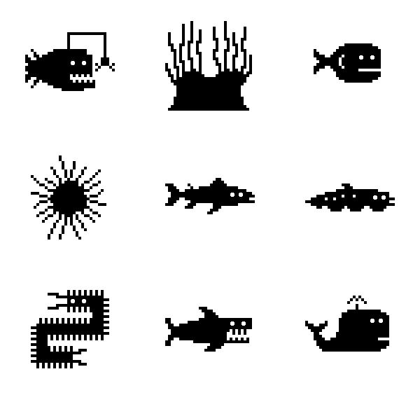 海洋生物图标
