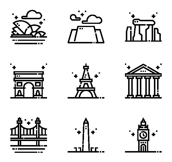 地标古迹图标