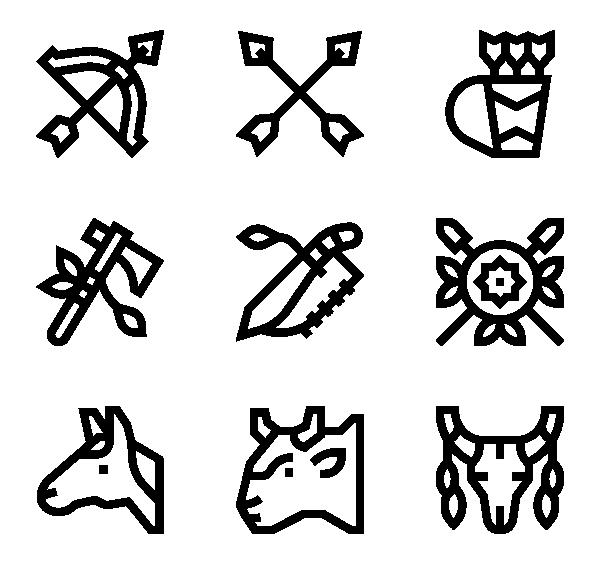 美国土着人图标