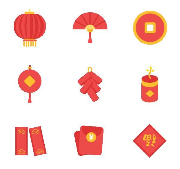 春节(扁平)图标