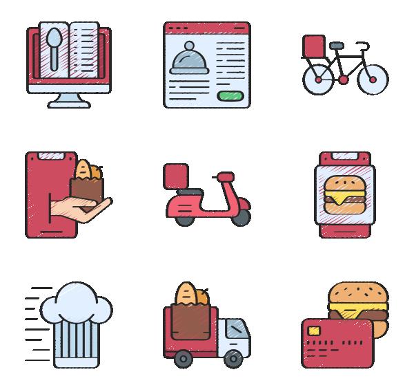 食品配送图标