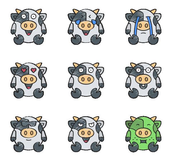 牛的表情图标