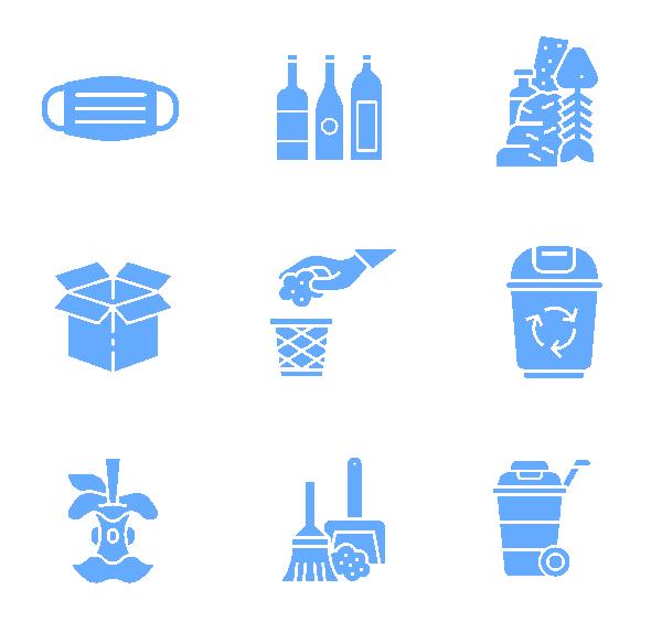 垃圾分类(面性)图标