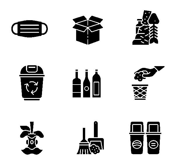 垃级分类(黑色)图标