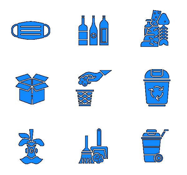 垃圾分类(填充)图标