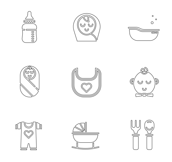 母婴(线性)图标