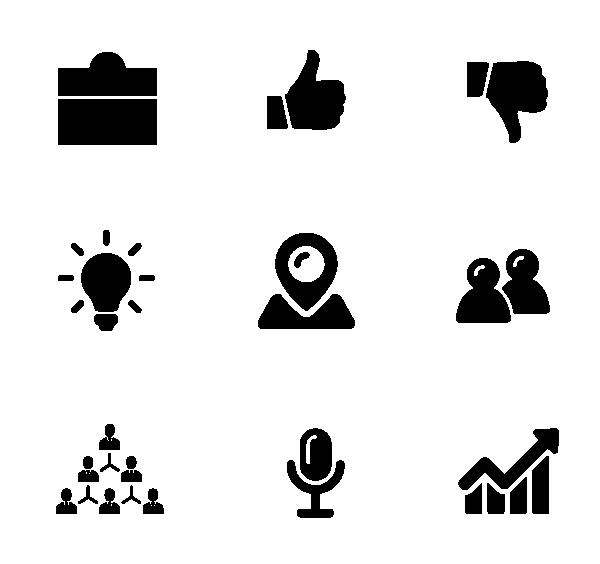 商务(面性黑色)图标