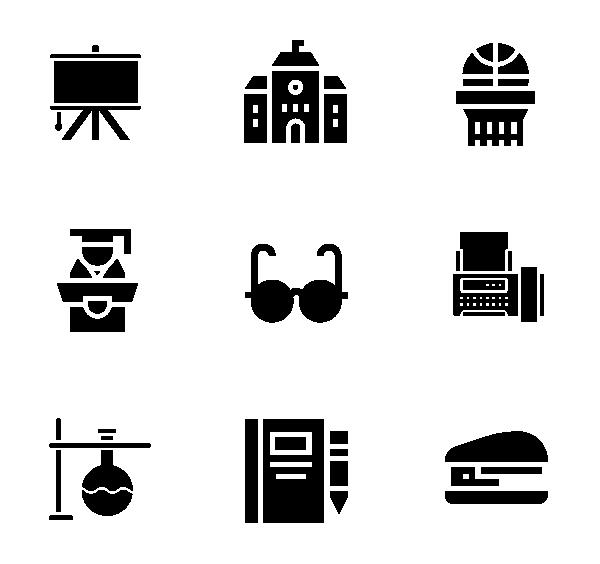 读书(面性黑色)图标