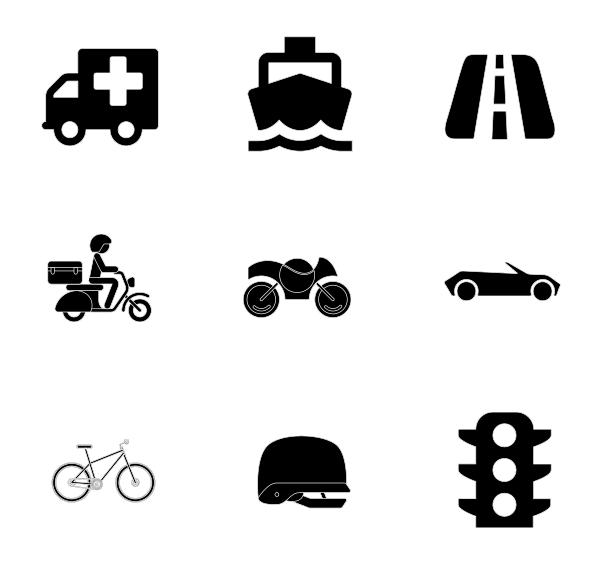 交通工具(填充)图标