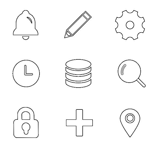 UI元素(线性)图标