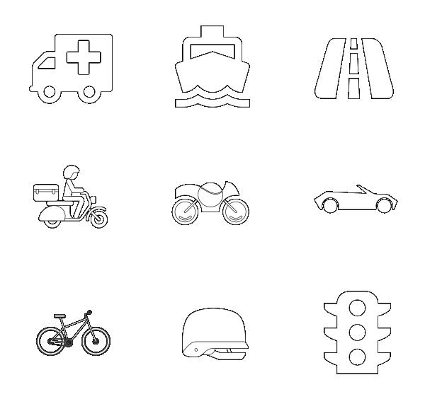 交通工具(线性)图标