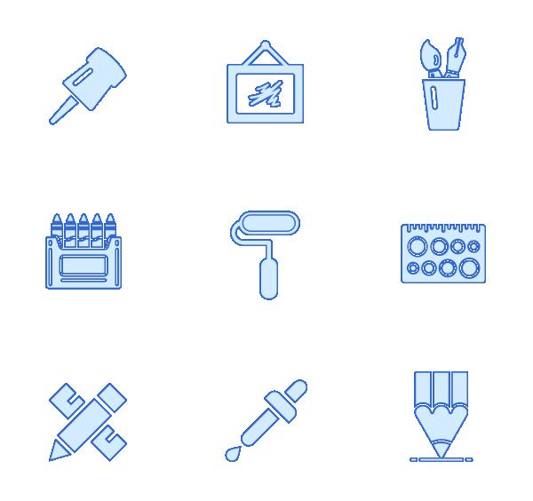 画画工具(填充)图标