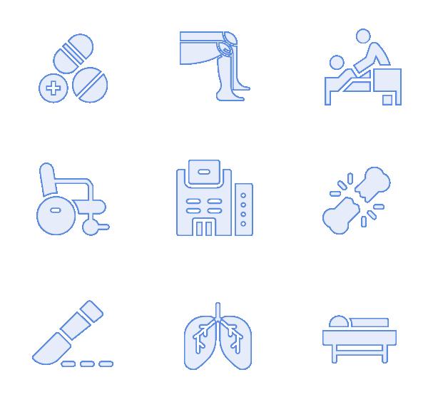 医疗(描边填充)图标