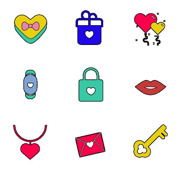 爱情(轮廓填充)图标