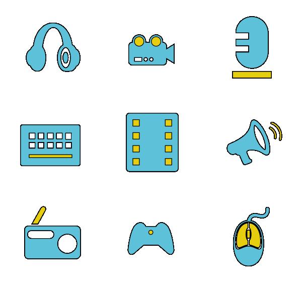 电子电量(轮廓填充)图标