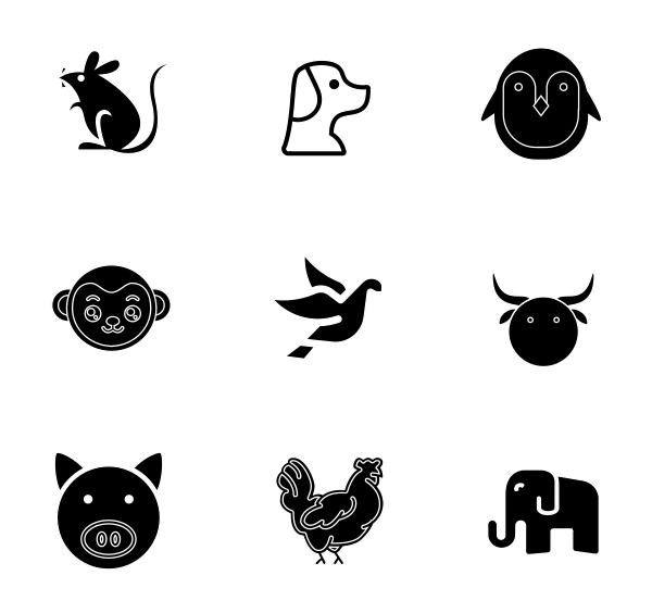 动物(填充)图标