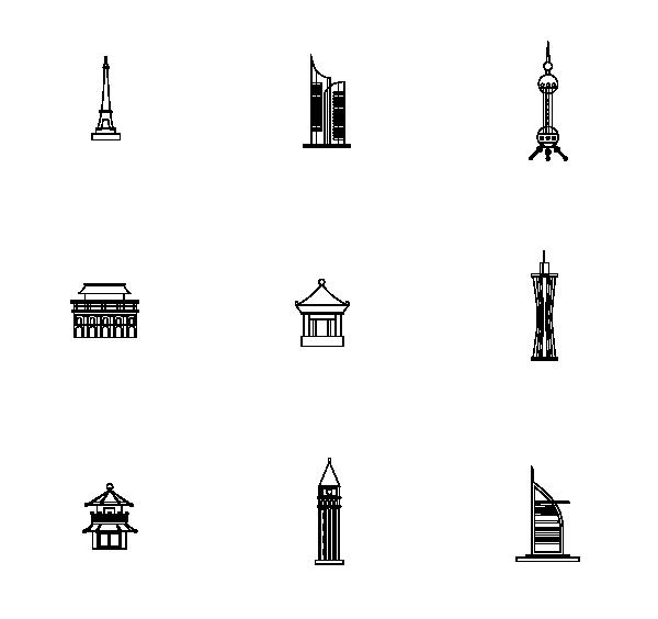 建筑物(线性)图标