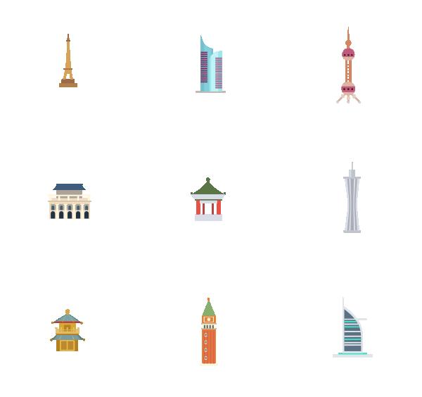 建筑物(填色)图标