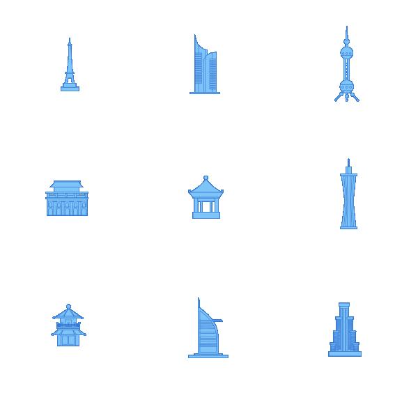 建筑物(纯色)图标