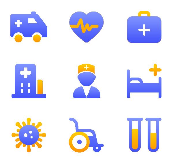 医疗(面性渐变)图标